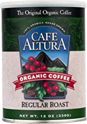Cafe Altura Ground Organic Coffee, Regular Roast, 12 Ounce (Pack of 3)