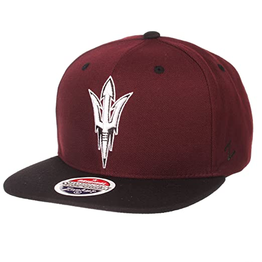 half off 6caad 000a8 Zephyr NCAA Arizona State Sun Devils Men s Z11 Static Snapback Hat,  Adjustable, Black