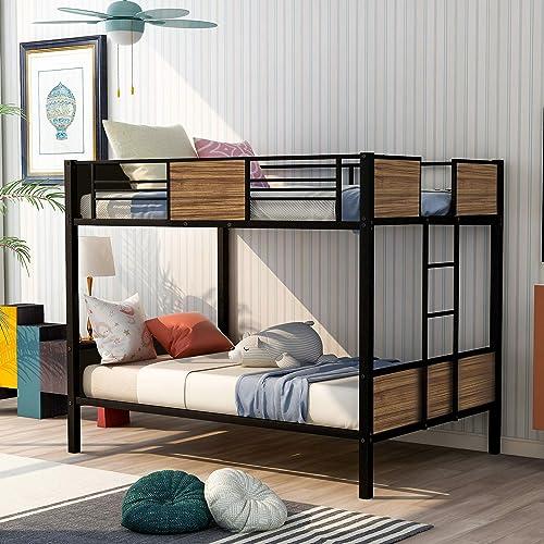 Full Over Full Metal Bunk Bed