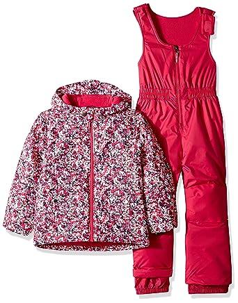 9c1df6b11 Columbia Girls' Little Kids Frosty Slope Set, Cactus Pink Floral Print, XX-