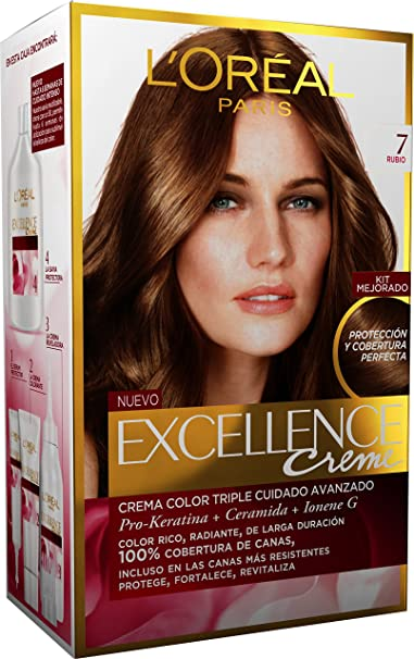 LOréal Paris Excellence Crème Triple Protección 7 Rubio - 200 gr: Amazon.es: Amazon Pantry