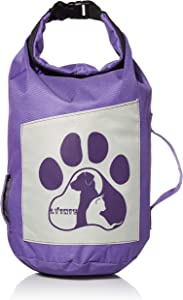 LYINIE Dog Food Travel Bag, Portable Folding Travel Food Storage Container for Cat & Dog,Kibble Carrier,Dog Travel Accessories for Camping - Holds 10lbs