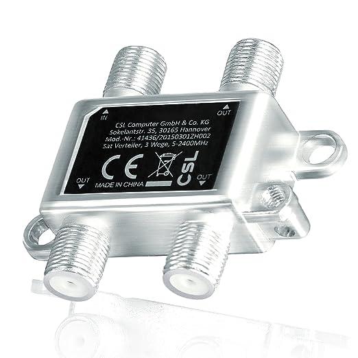 13 opinioni per CSL – Ripartitore SAT completamente schermato (3 vie), 5-2400 MHz /