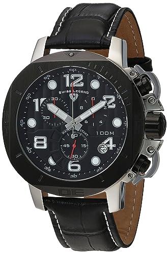 Swiss Legend 10538 - 01-BB - Reloj de Pulsera de Hombre, Correa de Piel Color Negro: Amazon.es: Relojes