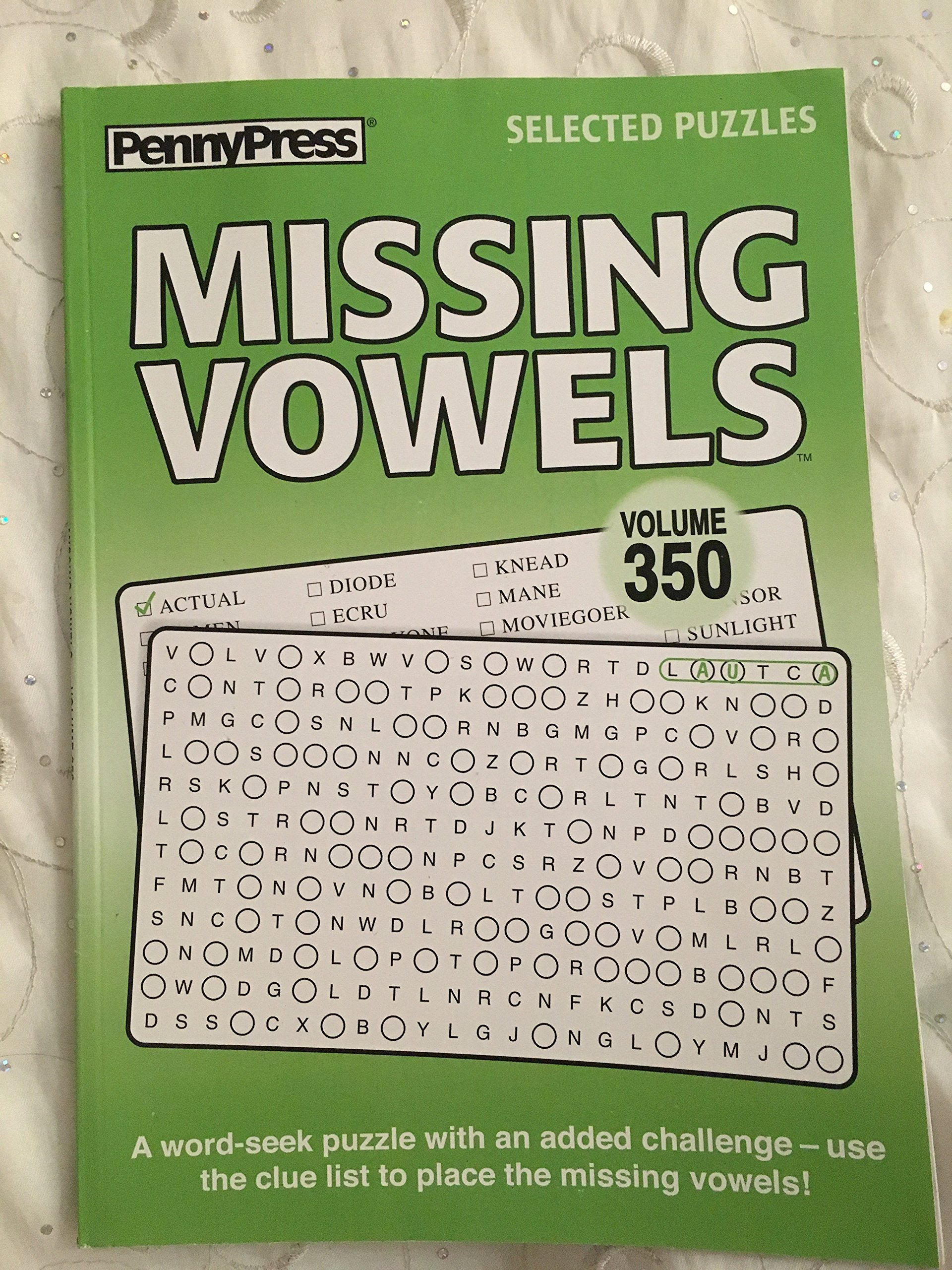 Read Online Penny Press Selected Puzzles Missing Vowels *Volume 350* Special Collection ebook