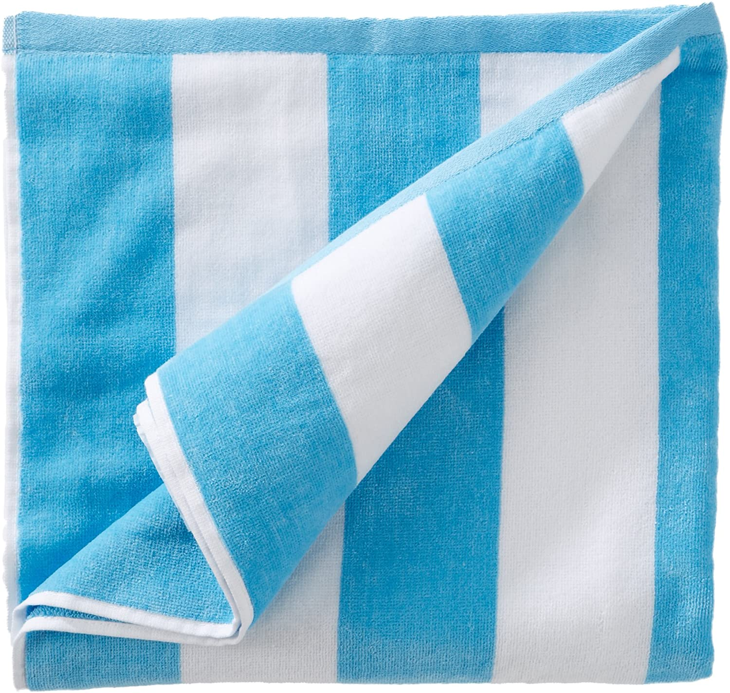 Great Bay Home Oversized Plush Velour 100% Cotton Beach Towel