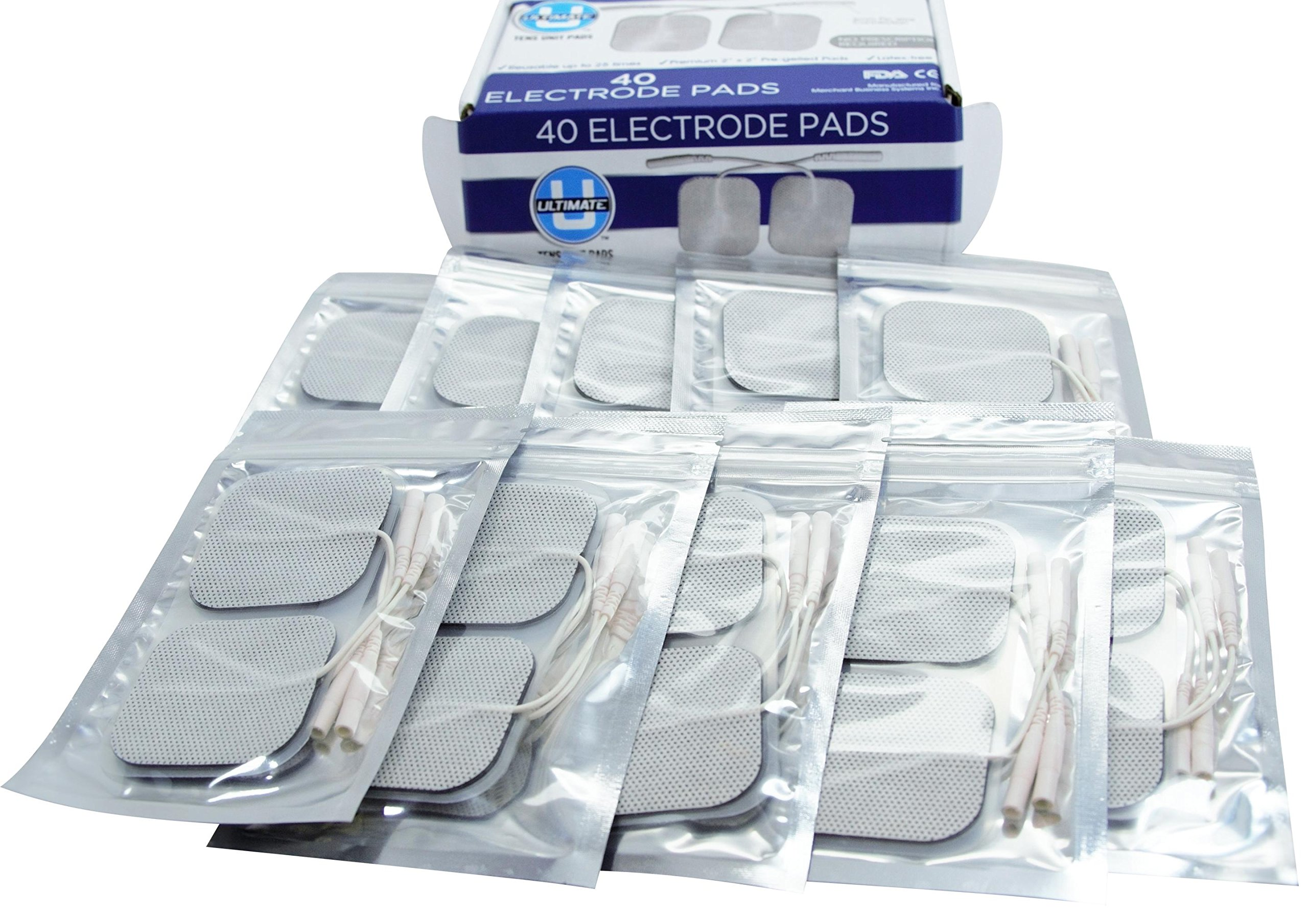TENS unit Pads 2X2 40 pcs Replacement TENS Electrodes Pads TENS Patches For Electrotherapy