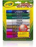 Crayola - 69-3527-E-000 - Lot de 9 Tubes de Colles Pailletées - Couleurs Assorties