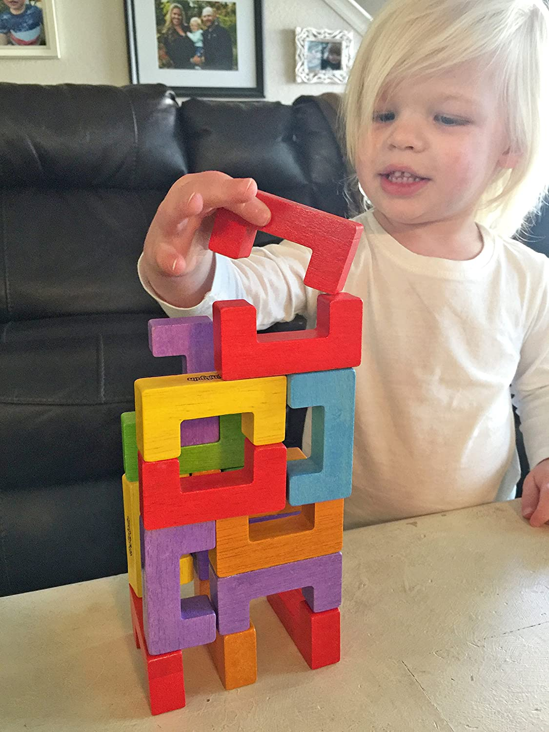 Spatial and Fine Motor Skills For Kids 2 and Up Construction and Pattern Blocks 12 Piece Playset BeginAgain U-Build Its Help Promote Early Math