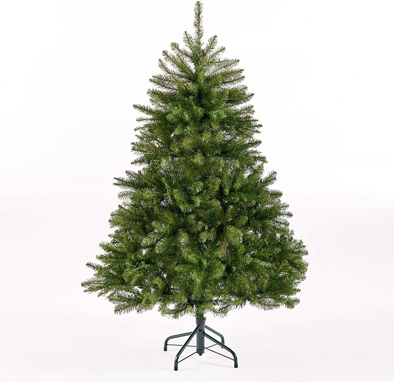 Christopher Knight Home 307302 4.5-Foot Fraser Fir Unlit Hinged Artificial Christmas Tree, Green