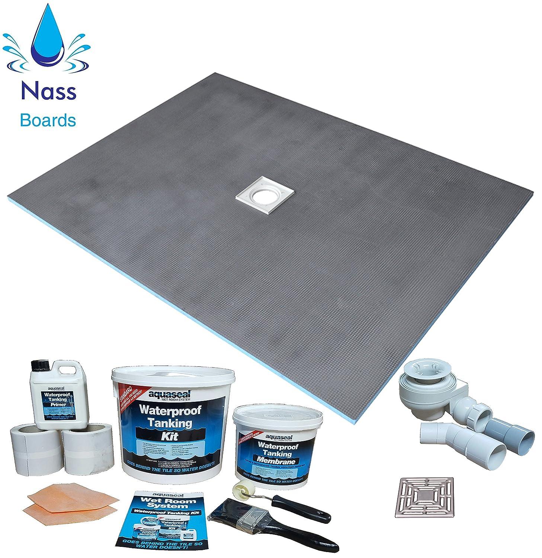 Nassboards Wetroom Shower Tray & Aqua Kit