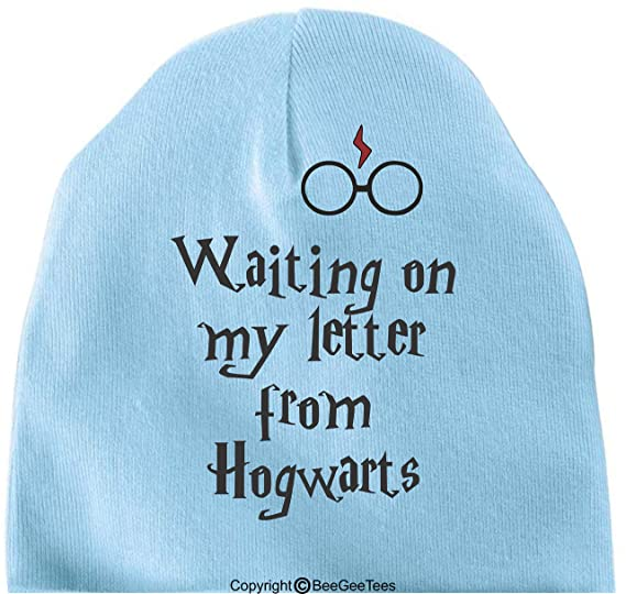 32435ccbd58 BeeGeeTees Waiting On My Letter from Hogwarts Funny Baby Cap Soft Warm  Cotton Infant Hat Hipster