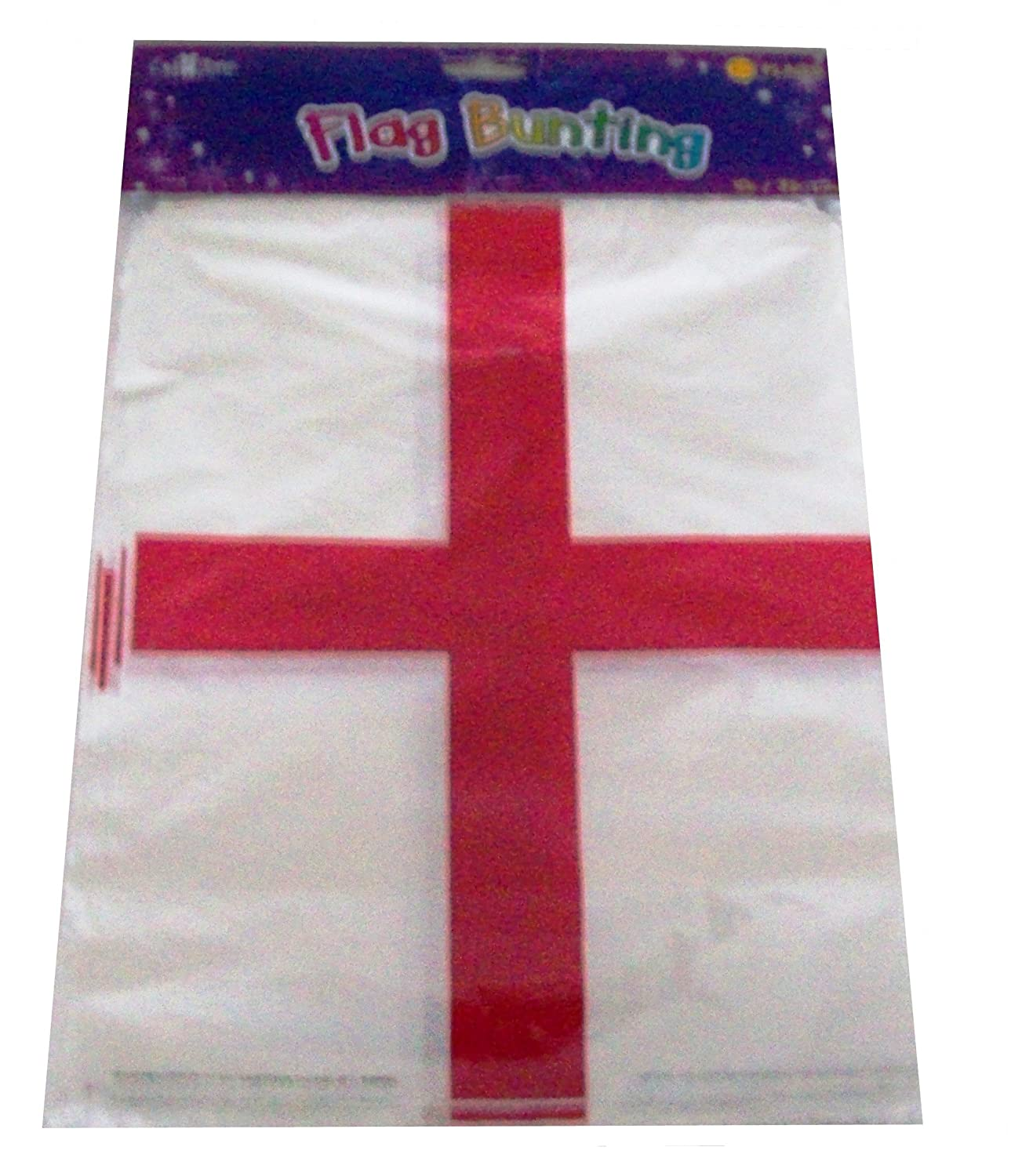 england st georges day flag bunting banner 20 flags 10m 32 feet