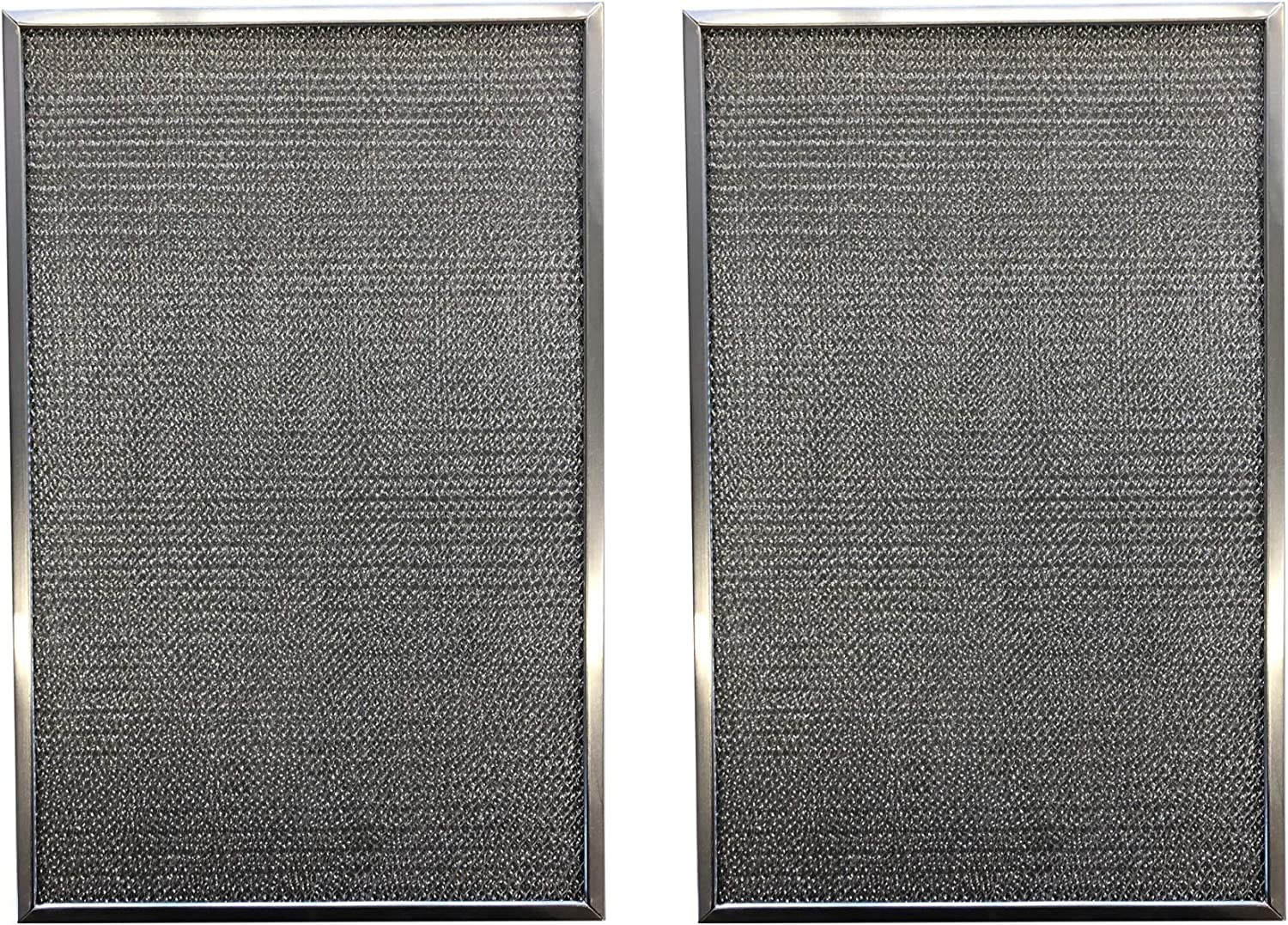 Replacement Aluminum Pre/Post Filter- 12-3/8 x 15-7/8 x 3/8 - Compatible with Honeywell Air Cleaner Models F300E1019, F300A1620, F50F1073 - (2-Pack)