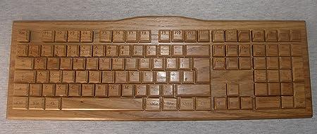 Teclado de madera para PC con teclas mecánicas (interruptor ...