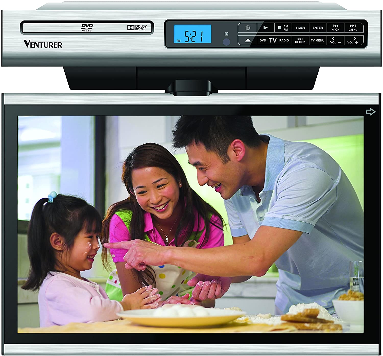 Venturer Klv3915 15 4 Inch Undercabinet Kitchen Lcd Tv Dvd Combo No Hdmi No Av Input Electronics