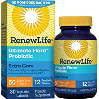 Renew Life - Ultimate Flora Probiotic Extra Care - 50 billion - daily digestive...