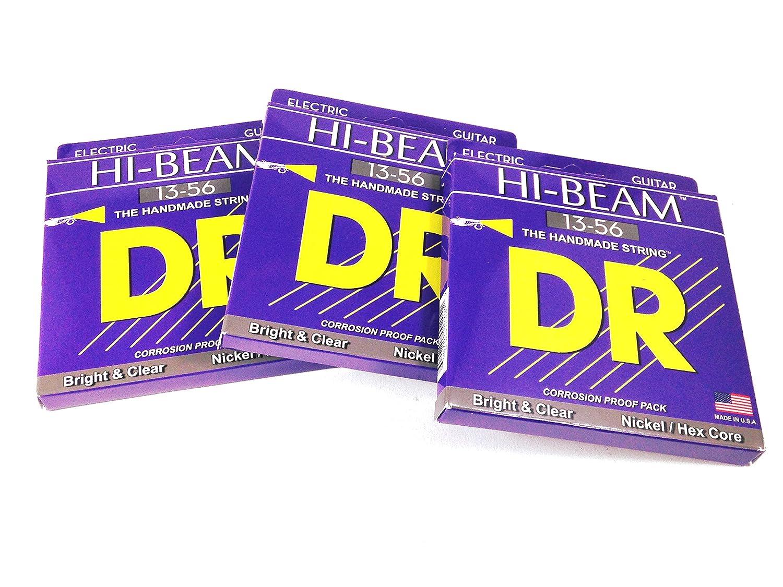 DR Guitar Strings Electric High Beam 10-46 Nickel Plated Hex Core Medium