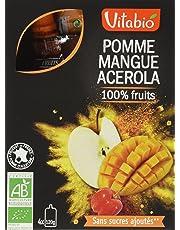 Vitabio Gourde Pomme Mangue Acérola 480 g - Lot de 3