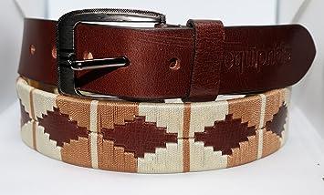 Equipride - Cinturón Polo Unisex de Piel Argentina, Color marrón y ...