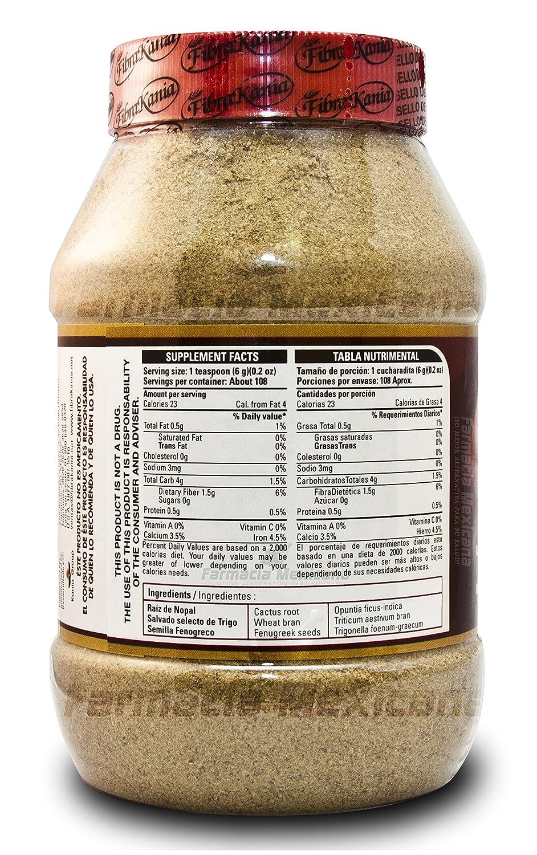 Amazon.com: Fibra Kania Natural Flavor - Colon Cleanse and Detox - 580 Gram Powder (Natural Flavor): Health & Personal Care