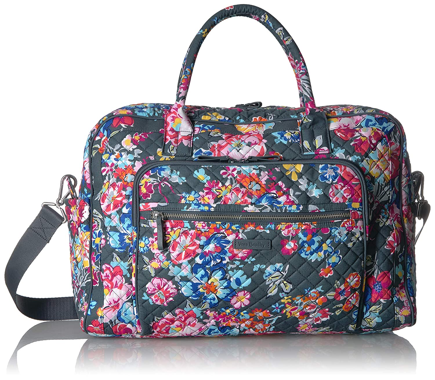 d7ac82a94a96 Amazon.com  Vera Bradley womens Iconic Weekender Travel Bag ...