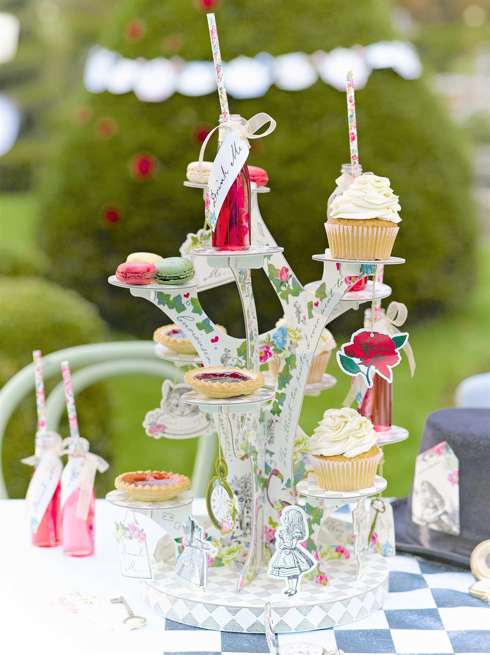 Talking Tables TSALICE-TREATSTAND Alice In Wonderland Cupcake Stand Centerpiece Mad Hatter Tea Party, Treat, Mixed colors by Talking Tables (Image #2)