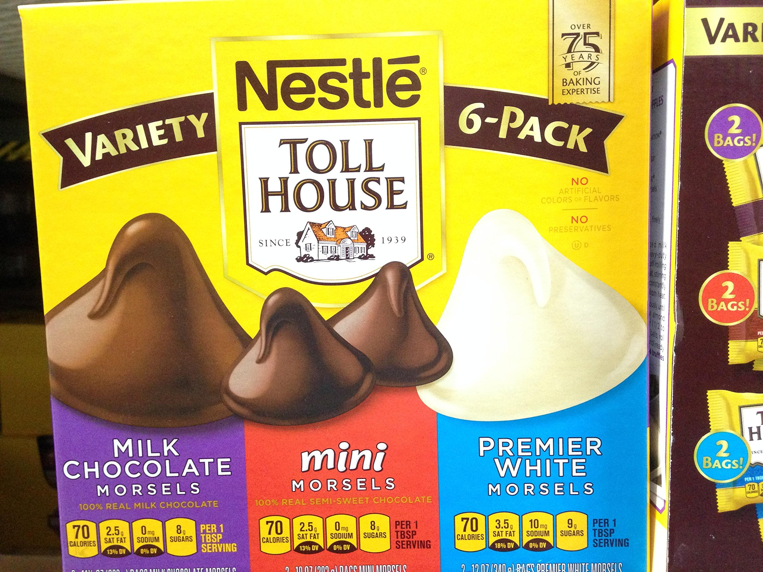 Tollhouse morsels variety box 67 oz (pack of 6)