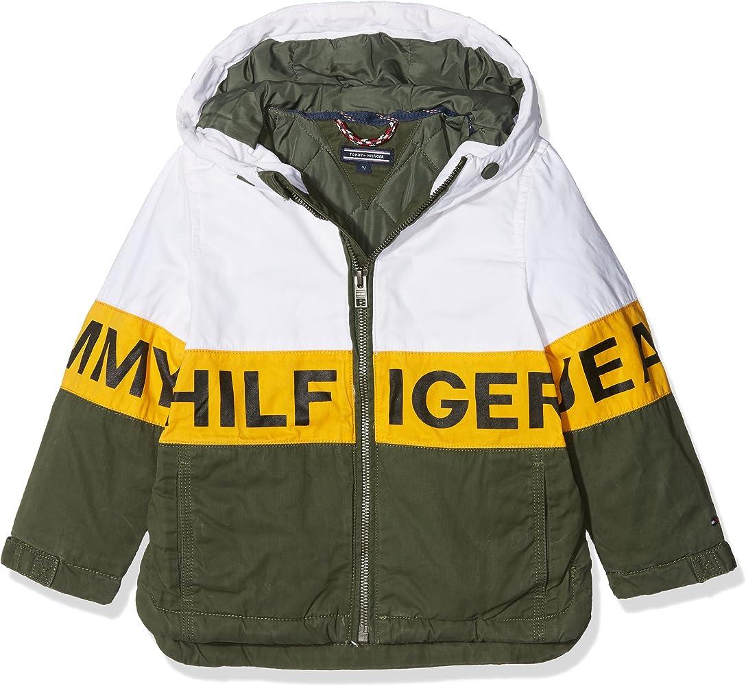 Tommy Hilfiger Thkb Dg Logo HD Coat 23 Chaqueta, Verde (Thyme 381), 140 (Talla del Fabricante: 10) para Niños: Amazon.es: Ropa y accesorios