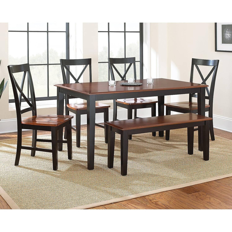 Amazon.com - Steve Silver Company Kingston Dining Table, Oak/Black ...
