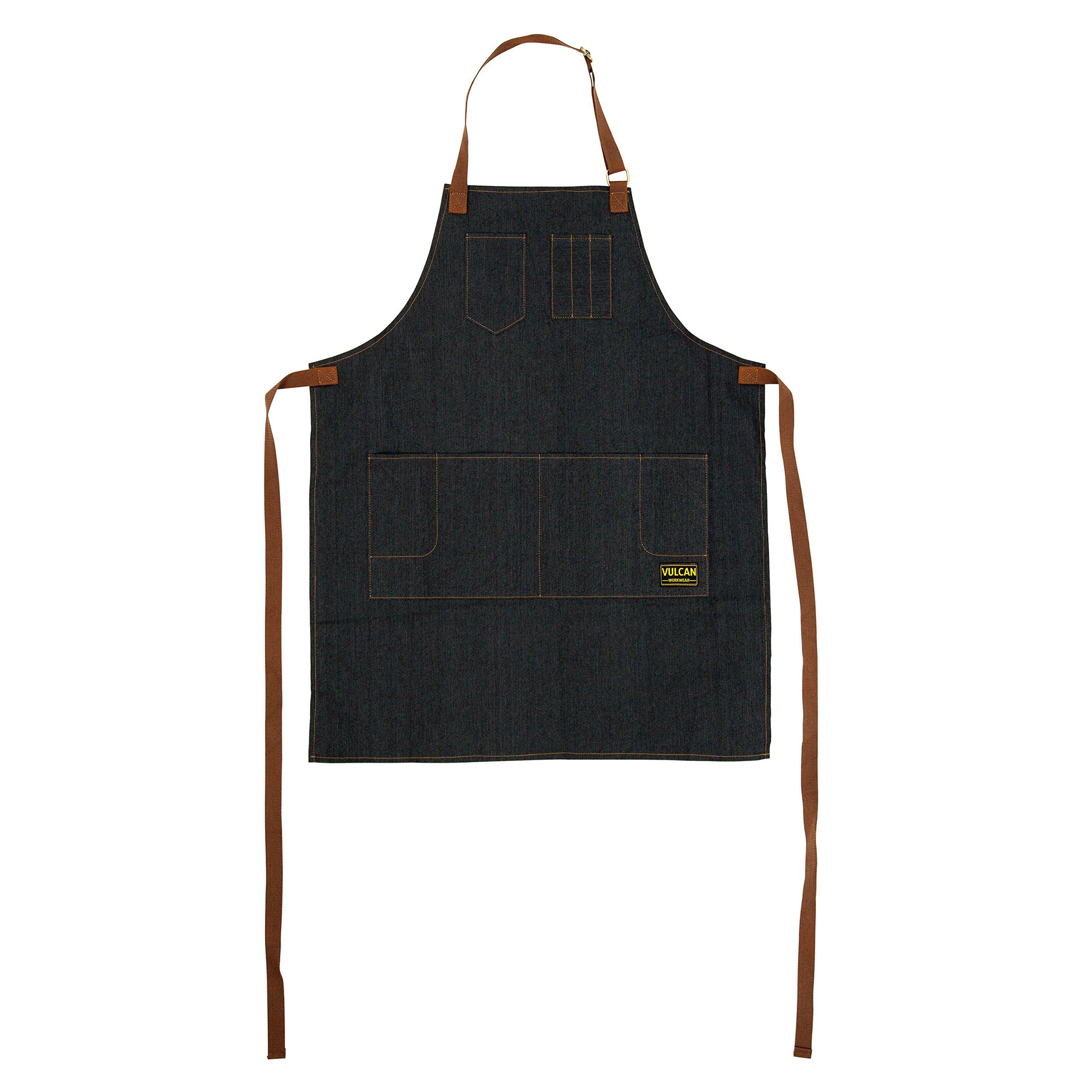 Vulcan Workwear Utility Apron - Multi-Use Shop Apron with Pockets - Lightweight Denim Tool Apron by Vulcan Workwear (Image #2)