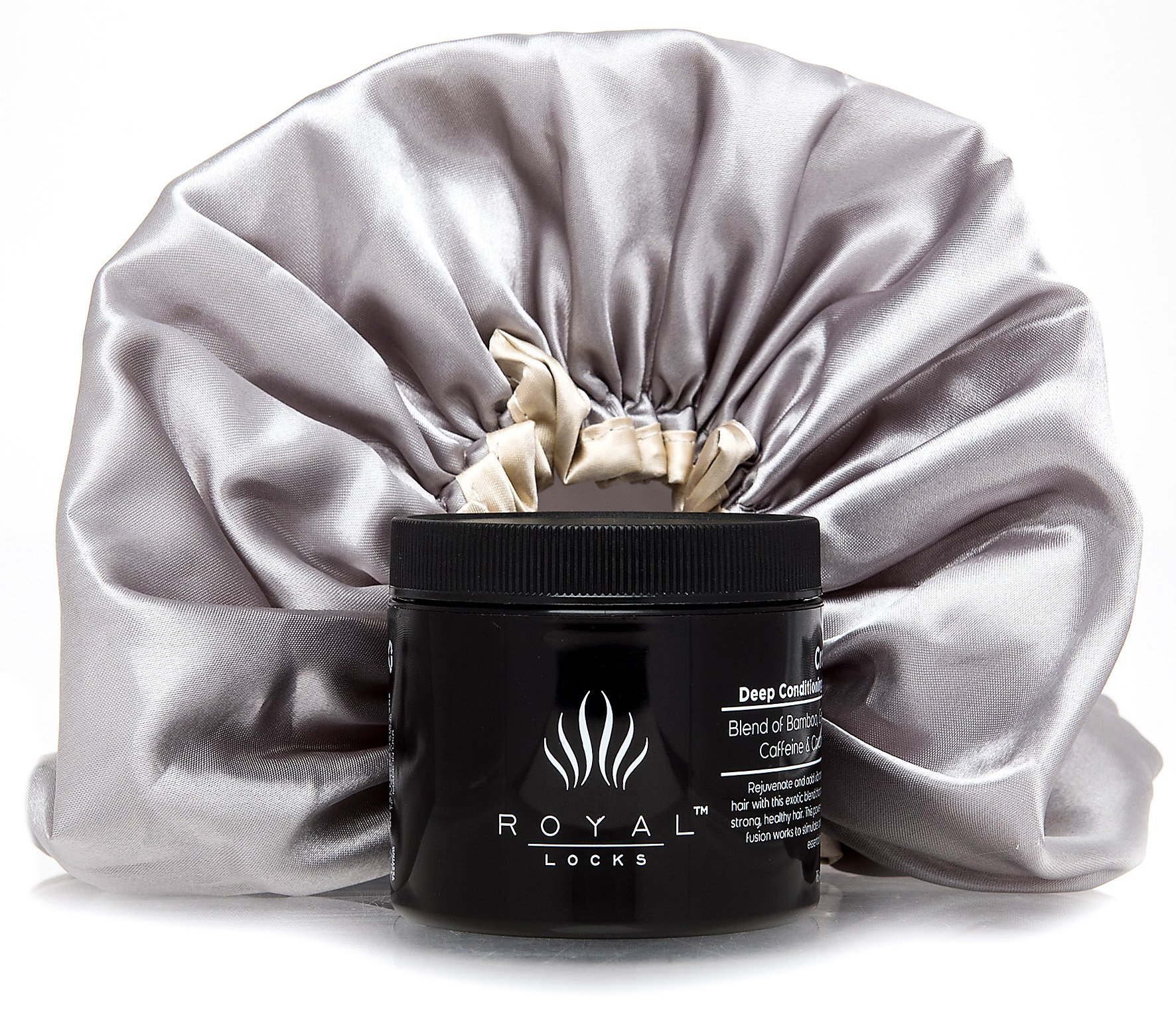 Deep Conditioning Hair Mask Treatment and Shower Cap by Royal Locks. Repairs Curly, Wavy, Dry, Damaged, and Colored Hair for Hydrating Moisture and Conditioner.