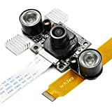 Day-Night V2 for Raspberry Pi Camera, Arducam All-Day Image All-Model Support, IR LED for Low Light and Night Vision, M12 Lens Interchangeable, IR Filter Auto-Switch Programmable, OV5647 5MP 1080P