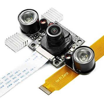 Day-Night Vision for Raspberry Pi Camera, Arducam All-Day Image All-Model  Support, IR LED for Low Light and Night Vision, M12 Lens Interchangeable,  IR