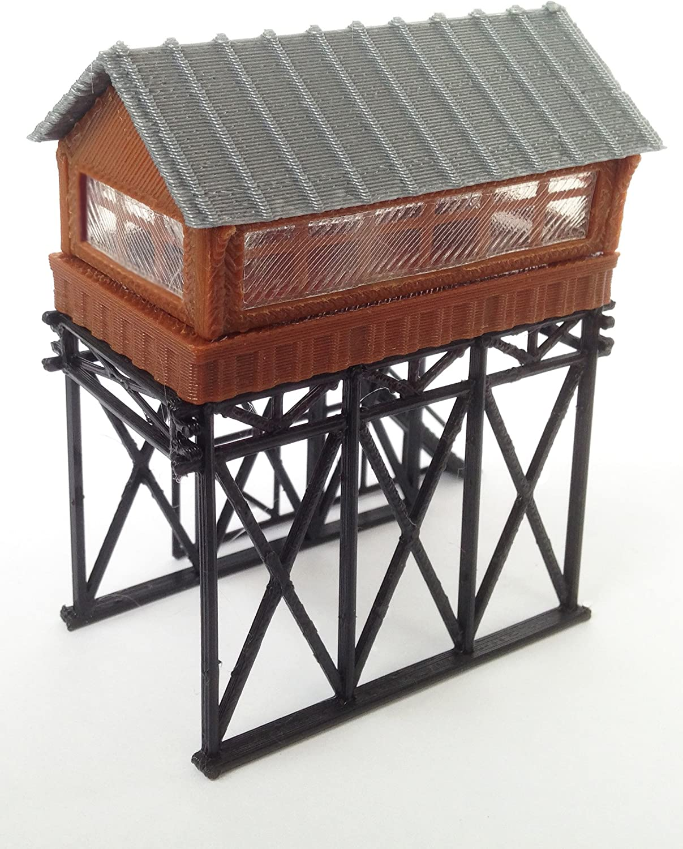 Tower N Gauge Outland Models Train Railway Layout Station Overhead Signal Box