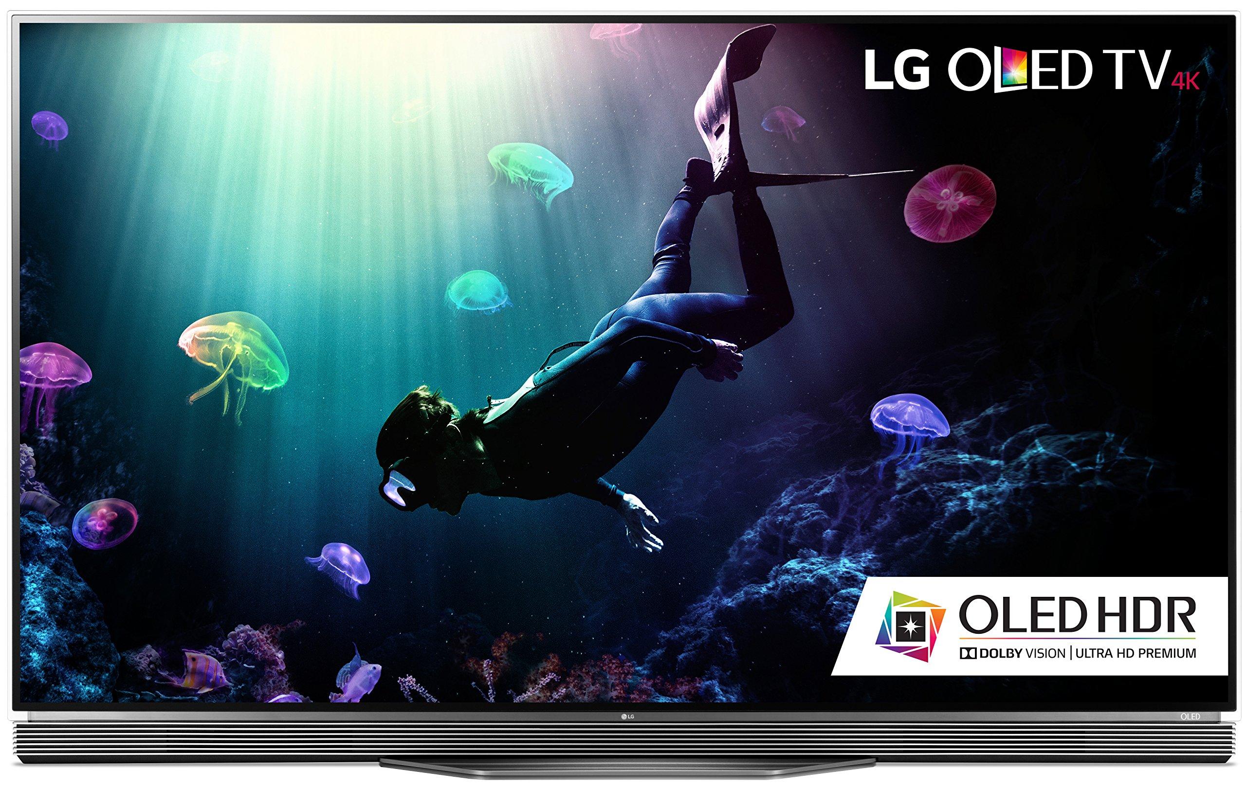 LG Electronics OLED55E6P Flat 55-Inch 4K Ultra HD Smart OLED TV (2016 Model)
