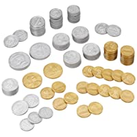 Learning Resources Play Money Coin set of 30 pennies, 20 each of nickles, dimes, and quarters, 4 half-dollars, and 2 Sacagawea