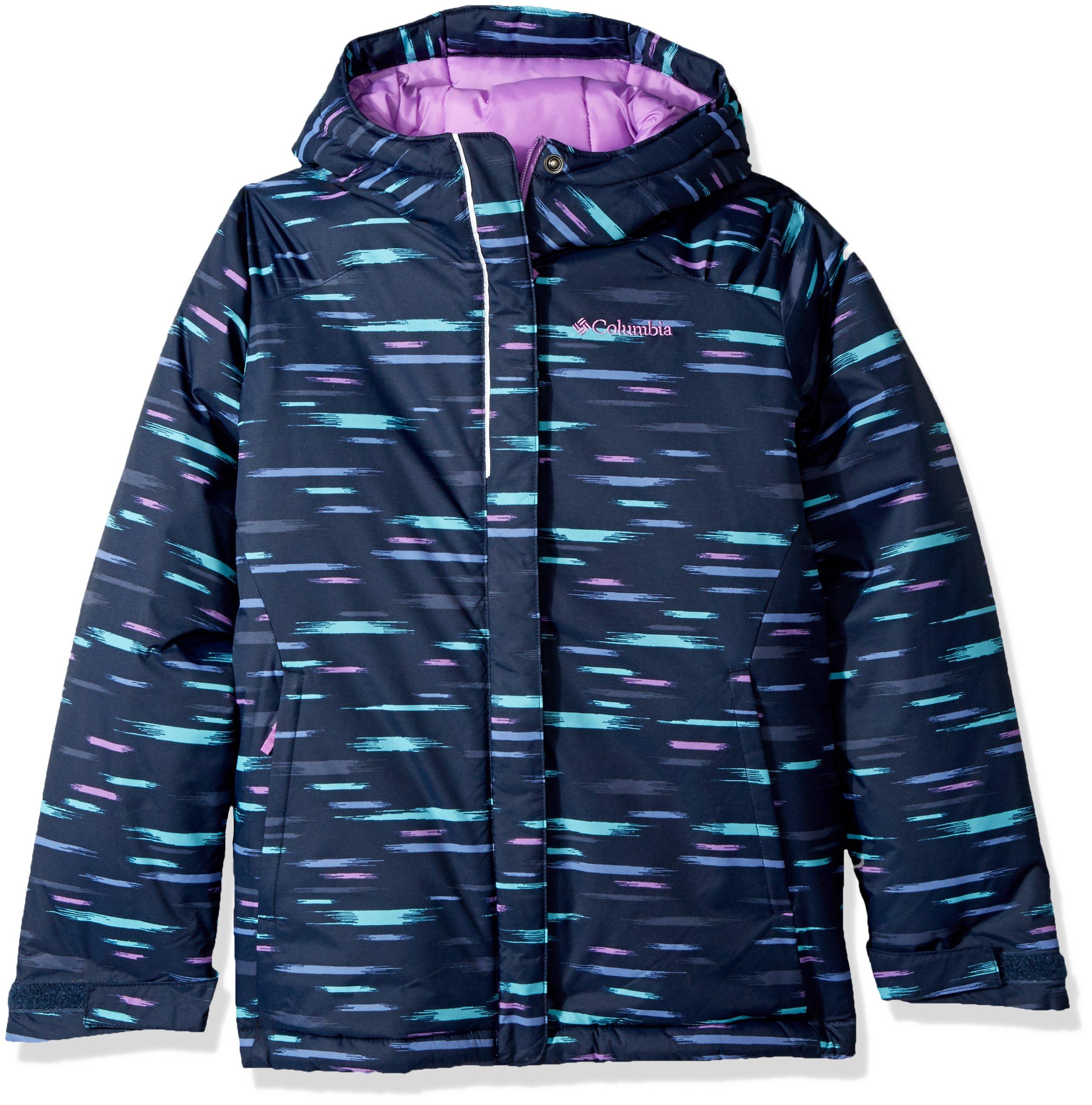 Columbia Big Girls' Horizon Ride Jacket, Collegiate Navy Lite Brite, X-Large