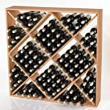 Jumbo Bin 120 Bottle Wine Rack -Natural