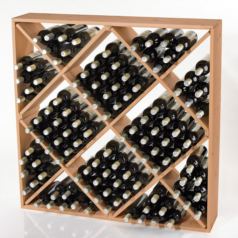 Jumbo Bin 120 Bottle Wine Rack -Natural