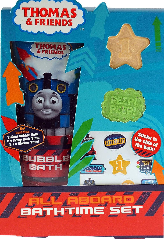 Thomas bathroom set - Thomas The Tank Engine Christmas Gift Set Bubble Bath Tints Stickers Amazon Co Uk Toys Games