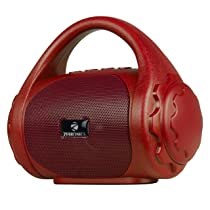 Zebronics Zeb-County Bluetooth Speaker with Built-in FM Radio, Aux Input and Call Function (Red)