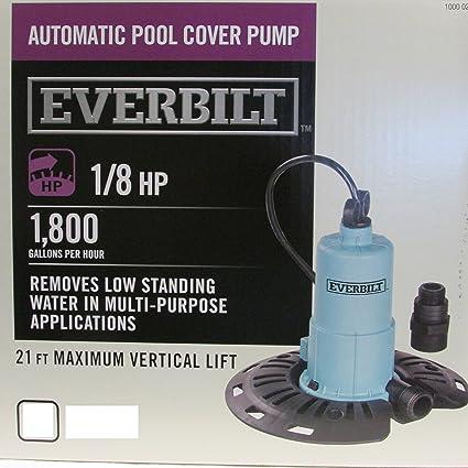 Everbilt 1/8 HP Pool Cover Pump PC00801G