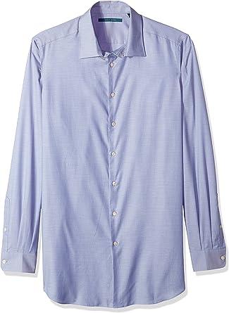 Perry Ellis Hombre 4DSW7603 Camisa con patrón de Cuadros ...