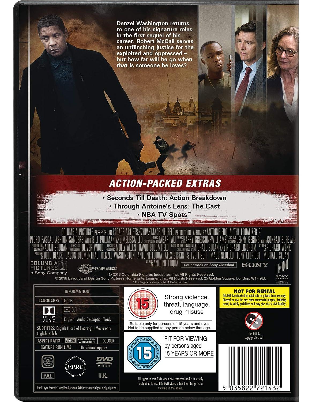 The Equalizer 2 [DVD] [2018]: Amazon co uk: Denzel