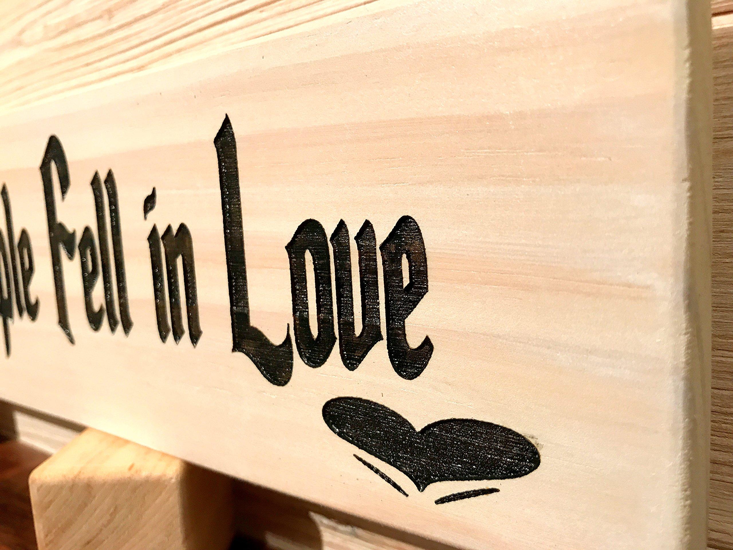 All Because Two People Fell In Love Wall Plaque Laser Engraved Personalized Custom Sign 163 by SignsByAllSeasons by All Seasons (Image #2)