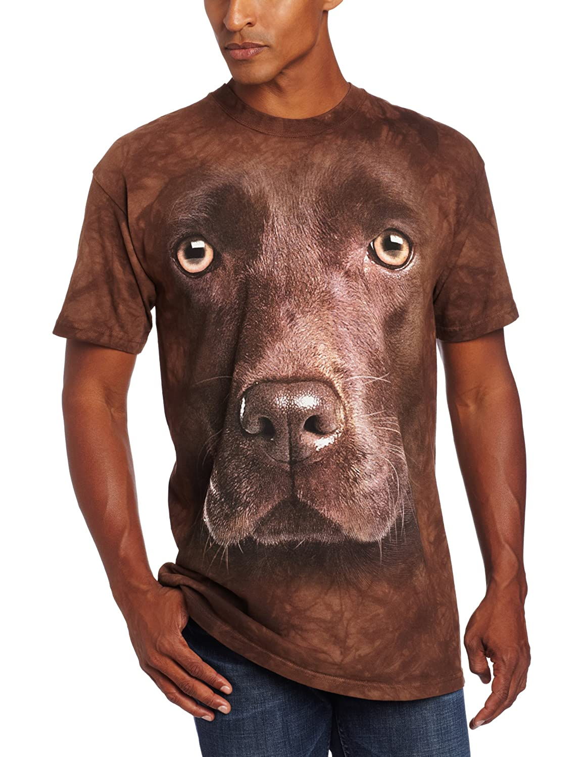 The Mountain Men's Chocolate Lab Face T-Shirt 103550