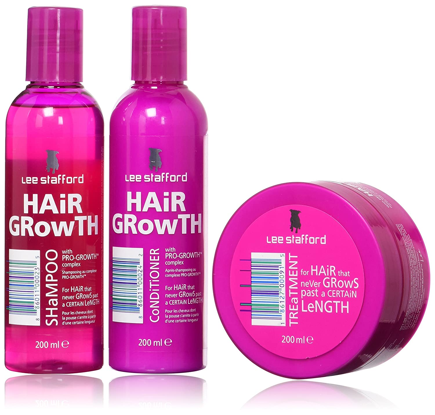 Lee Stafford Hair Growth Treatment X 2, champú X 2 & Conditioner X 2 Bundle …