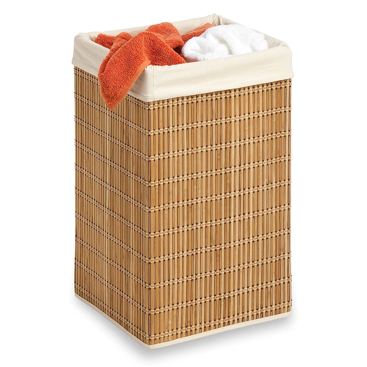 Amazon.com: Honey Can Do HMP 01620 Square Wicker Hamper, Clothing  Organizer, Bamboo: Home U0026 Kitchen