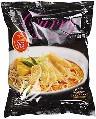 Prima Taste Curry La Mian, Singapore, 178g/6.2oz,(Pack Of